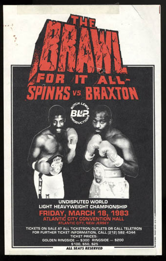 The Brawl For It All: Michael Spinks vs. Dwight Braxton