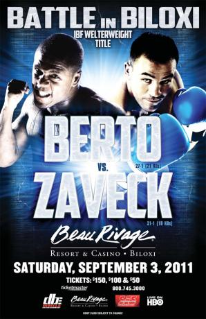 Battle In Biloxi: Andre Berto vs. Jan Zaveck