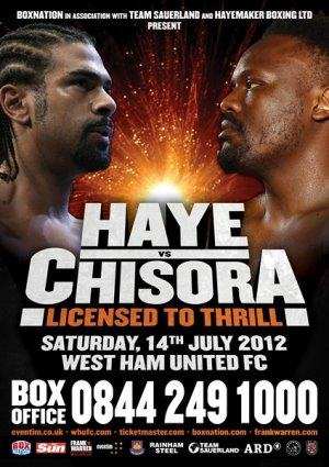 Licensed To Thrill: David Haye vs. Dereck Chisora