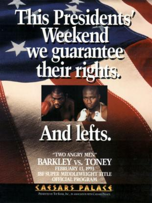Two Angry Men: Iran Barkley vs. James Toney