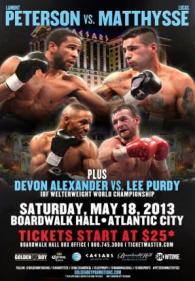 Devon Alexander vs. Lee Purdy Poster